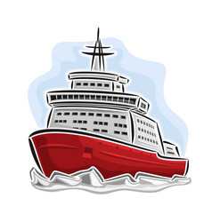 Arctic icebreaker ship vector