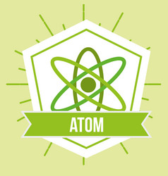 atom molecule science energy emblem vector image