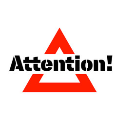 Attention sticker stamp vector