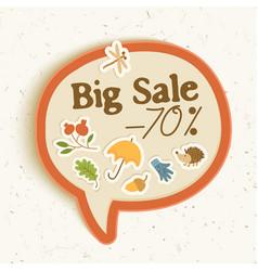 autumn sale sticker concept vector image