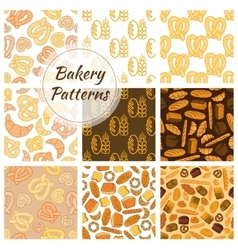 Bakery bread and grain seamless pattern vector image