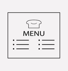 bakery menu icon line element vector image
