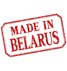 Belarus - made in red vintage isolated label vector