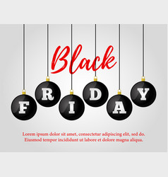Black friday sale ad poster banner vector