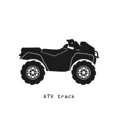 Black silhouette atv on a white background vector