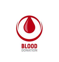 blood donation logo a drop vector image