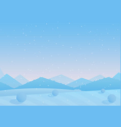 blue colorful snowy hills vector image