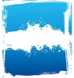 blue ink vector image