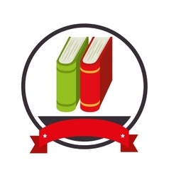 Book school isolated icon vector
