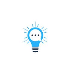 chat idea logo icon design vector image