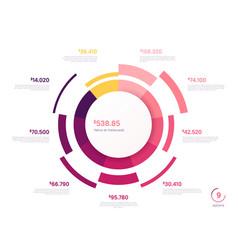 circle chart design modern template vector image