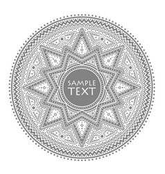 circle pattern vintage vector image