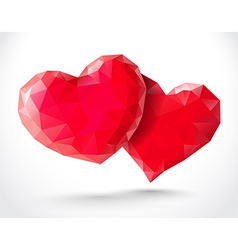 Couple of shiny hearts vector image
