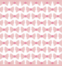 cute ribbons bows decorative pattern vector image