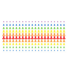Devil shape halftone spectrum array vector