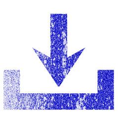 Downloads grunge textured icon vector