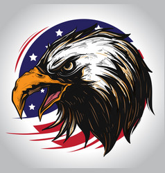 eagle character america vector image
