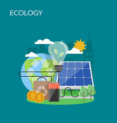 ecology concept flat style design vector image