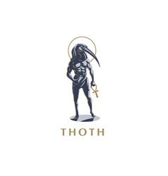 Egyptian god thoth vector