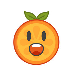 Emoji - scream orange smile isolated vector