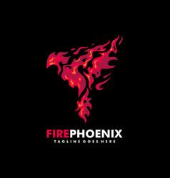 Fire phoenix design template vector