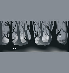 Forest with eyes vector