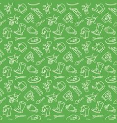 garden icon tool pattern vector image