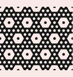 Geometric pattern different sized hexagons vector