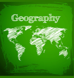 Green geography background vector