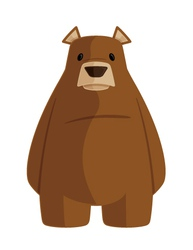 grizzly bear cartoon vector image