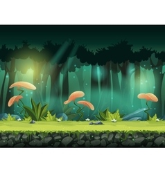 horizontal seamless forest vector image
