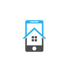 house mobile logo icon design vector image