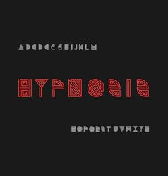 Hypnosis font alphabet vector