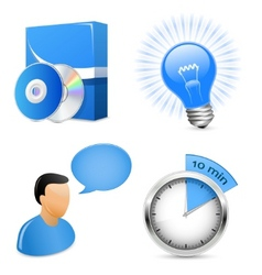 Icons for software development company vector