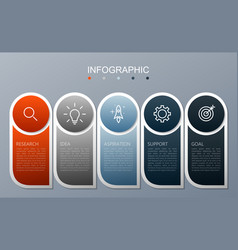 infographic elements modern 5 options vector image