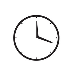 isolated clock icon vector image