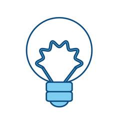 Isolated energy bulb vector