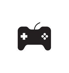 joystick icon game console symbol simple flat vector image