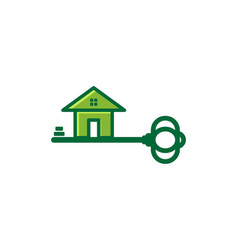 key and house security logo inspiration isolated vector image