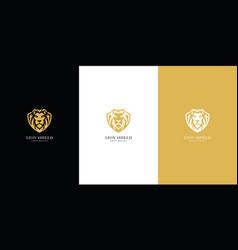 lion shield logo premium vector image