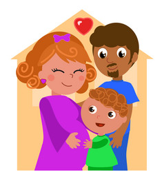 Mixed races family vector