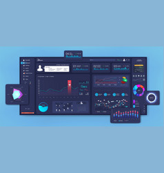 modern dashboard design mockup vector image