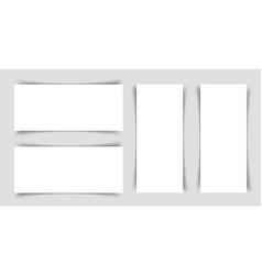mok-up of narrow horizontal and horizontal flyers vector image