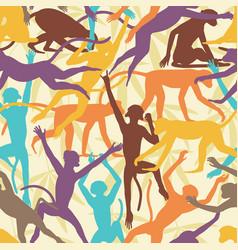 monkey seamless tile vector image
