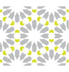 Moroccan islamic style geometric tile pattern vector