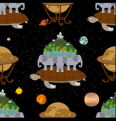 mythological planet earth seamless pattern old vector image