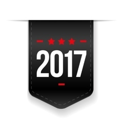 New Year 2017 black ribbon vector