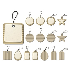 paper tag vector image