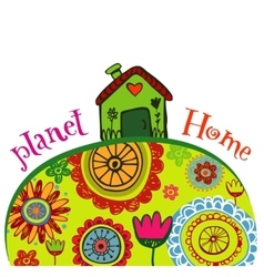 Planet home banner vector