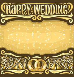 Poster for wedding vector